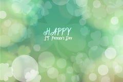 Fond de bokeh de vert d'abrégé sur jour du ` s de St Patrick pour la conception Image libre de droits