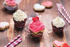 Fond de bonbon à Saint-Valentin Image libre de droits