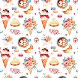 Fond de bonbons à aquarelle illustration stock