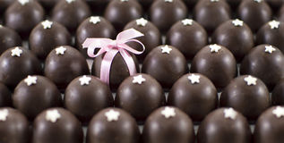 Fond de bonbons au chocolat Photographie stock libre de droits