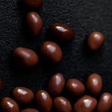 Fond de bonbons au chocolat Sucreries rondes o de chocolat de brun foncé Photographie stock libre de droits