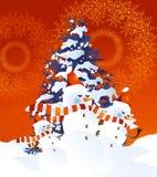 Fond de bonhomme de neige images libres de droits