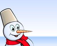 Fond de bonhomme de neige. Photographie stock libre de droits
