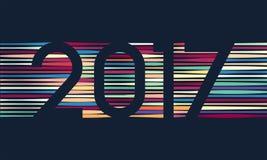 Fond 2017 de bonne année Décoration de calendrier Carte de voeux Calibre chinois de calendrier pendant l'année du coq Images libres de droits