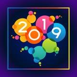 Fond de 2019 bonnes années illustration de vecteur