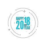 Fond de 2018 bonnes années illustration de vecteur