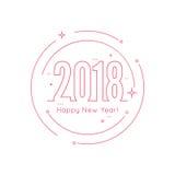 Fond de 2018 bonnes années illustration stock