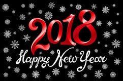 Fond de 2018 bonnes années pour vos invitations orientées saisonnières d'insectes et de carte de voeux ou de Noël illustration de vecteur