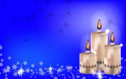 Fond de bougie de Noël Image libre de droits