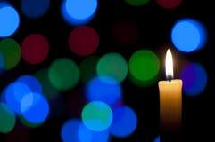 Fond de bougie et de Noël Photographie stock libre de droits