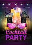 Fond de boule de disco Affiche de cocktail de disco Photographie stock