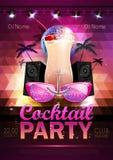 Fond de boule de disco Affiche de cocktail de disco Photographie stock libre de droits