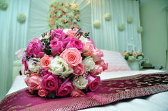 Fond de bouquet de mariage Image libre de droits