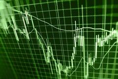 Fond de bourse des valeurs de finances Photo stock