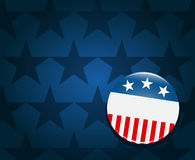 Fond de bouton de campagne d'élection Photographie stock libre de droits