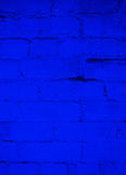 Fond de brique de bleu d'océan profond images libres de droits