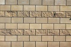 Fond de brique jaune Photographie stock