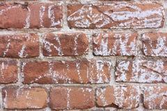 Fond de brique rouge avec les lignes de craie aléatoires Photo libre de droits