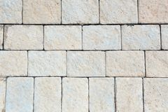 Fond de briques de trottoir Photographie stock libre de droits
