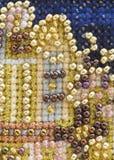 Fond de broderie de perle Photo libre de droits