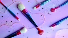 Fond de brosse de lecture de maquillage d'arc-en-ciel image libre de droits