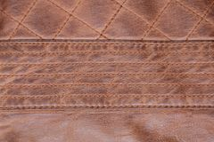 Fond de Brown de point piqué par texture en cuir image libre de droits