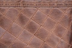 Fond de Brown de point piqué par texture en cuir vieux, usé photo libre de droits