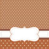 Fond de Brown, points de polka - carte ou invitation Photographie stock libre de droits