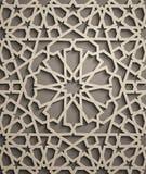 Fond de Brown Vecteur islamique d'ornement, motiff persan éléments ronds islamiques de modèle de 3d Ramadan géométrique Photos libres de droits