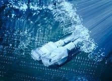 Fond de câble à fibres optiques de fibre Images libres de droits