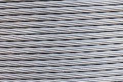 Fond de câble de corde de fil d'acier Photographie stock libre de droits