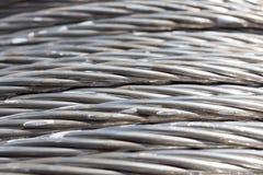 Fond de câble de corde de fil d'acier Photos libres de droits