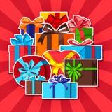 Fond de célébration avec des boîte-cadeau illustration de vecteur