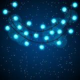 Fond de célébration avec la guirlande des ampoules Images libres de droits