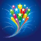 Fond de célébration d'étoiles illustration de vecteur