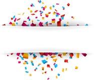 Fond de célébration de confettis Image libre de droits