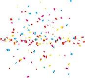 Fond de célébration de confettis Photos stock