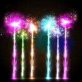 Fond de célébration de feu d'artifice Image stock