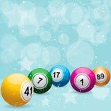 Fond de célébration de loterie de bingo-test illustration stock