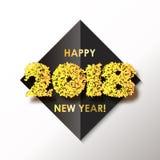 Fond 2018 de célébration de nouvelle année avec des confettis Images libres de droits