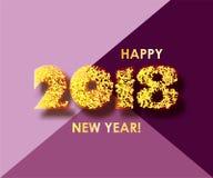 Fond 2018 de célébration de nouvelle année avec des confettis Photo libre de droits