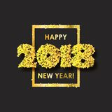 Fond 2018 de célébration de nouvelle année avec des confettis Image libre de droits