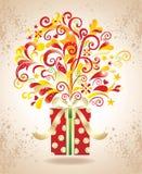 Fond de cadeau. Images stock