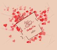 Fond de cadeau de jour de valentines rétro Photos stock
