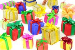 Fond de cadeaux de Noël Image libre de droits