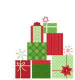Fond de cadeaux de Noël Photographie stock libre de droits