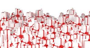 Fond de cadeaux de vacances - blanc Images libres de droits