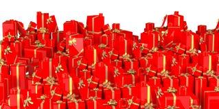 Fond de cadeaux de vacances - rouge Photographie stock libre de droits