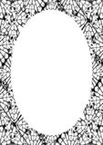Fond de cadre de cercle avec les frontières arrondies décorées illustration de vecteur