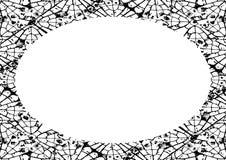Fond de cadre de cercle avec les frontières arrondies décorées illustration libre de droits